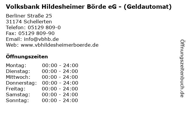 Volksbank Hildesheimer Börde eG - (Geldautomat) in Schellerten: Adresse und Öffnungszeiten