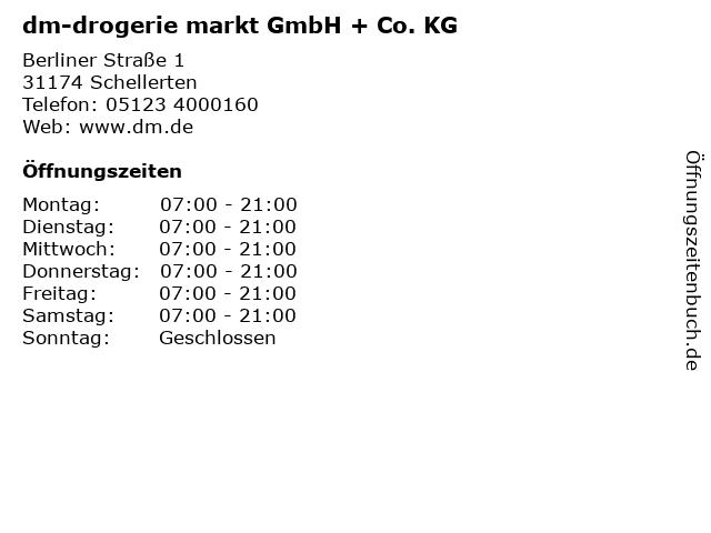 dm-drogerie markt GmbH + Co. KG in Schellerten: Adresse und Öffnungszeiten