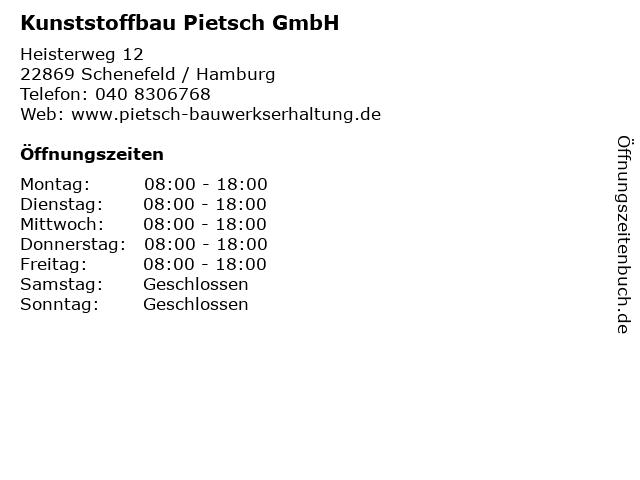 Kunststoffbau Pietsch GmbH in Schenefeld / Hamburg: Adresse und Öffnungszeiten