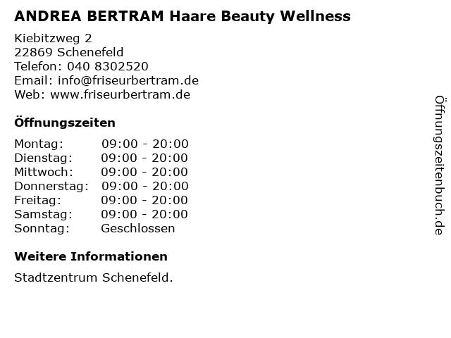 ANDREA BERTRAM Haare Beauty Wellness in Schenefeld: Adresse und Öffnungszeiten