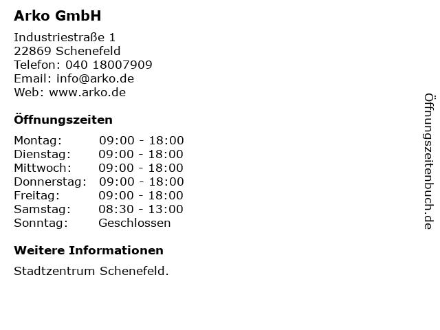 Arko GmbH in Schenefeld: Adresse und Öffnungszeiten