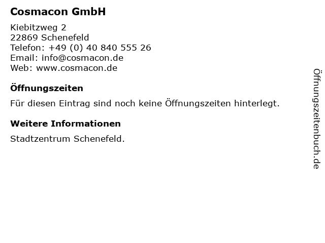 Cosmacon GmbH in Schenefeld: Adresse und Öffnungszeiten