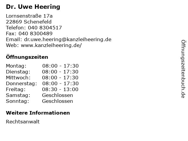 Dr. Uwe Heering in Schenefeld: Adresse und Öffnungszeiten