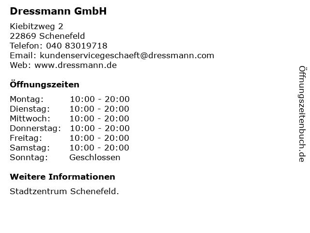 Dressmann GmbH in Schenefeld: Adresse und Öffnungszeiten