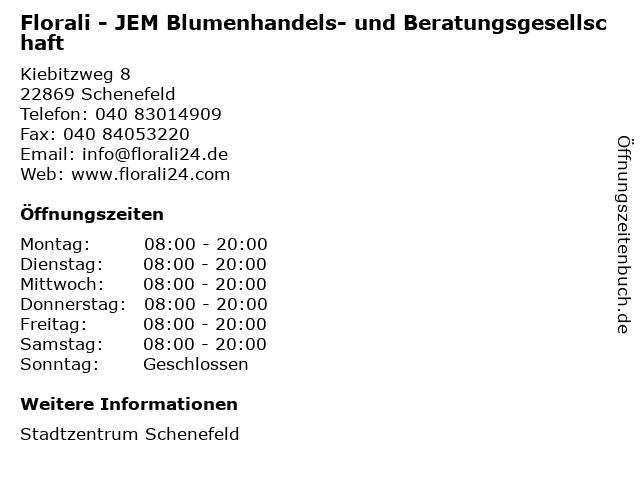 Florali - JEM Blumenhandels- und Beratungsgesellschaft in Schenefeld: Adresse und Öffnungszeiten