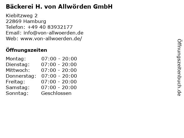 H. von Allwörden GmbH in Schenefeld: Adresse und Öffnungszeiten