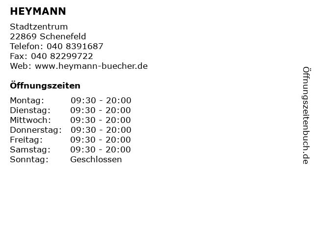 HEYMANN in Schenefeld: Adresse und Öffnungszeiten