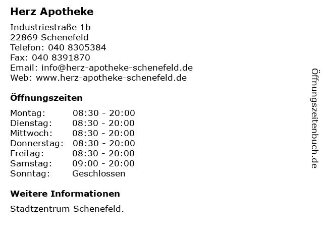 Herz Apotheke in Schenefeld: Adresse und Öffnungszeiten