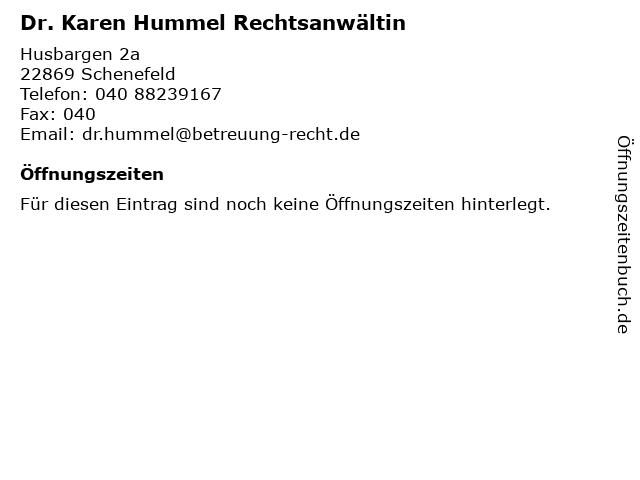 Karen Hummel Rechtsanwältin in Schenefeld: Adresse und Öffnungszeiten