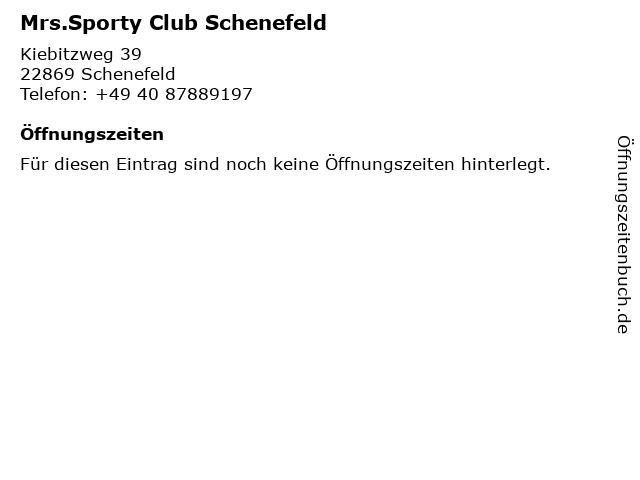 Mrs.Sporty Club Schenefeld in Schenefeld: Adresse und Öffnungszeiten