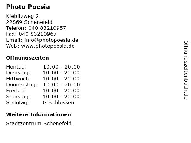 Photo Poesia in Schenefeld: Adresse und Öffnungszeiten