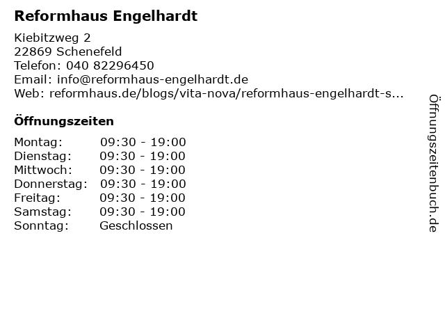 Reformhaus Engelhardt GmbH & Co. KG in Schenefeld: Adresse und Öffnungszeiten