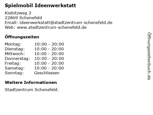 Spielmobil Ideenwerkstatt in Schenefeld: Adresse und Öffnungszeiten