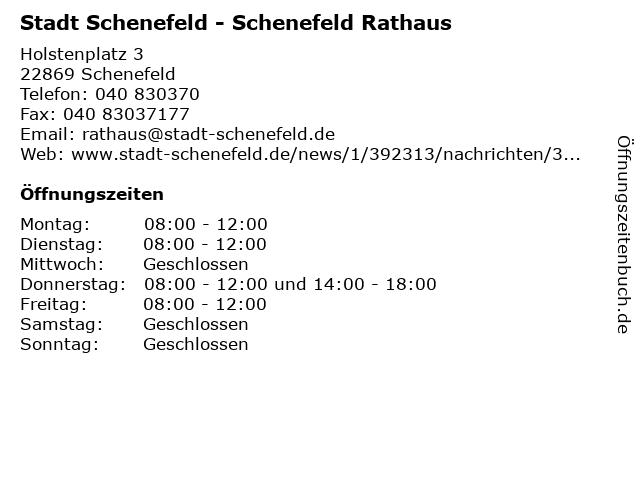 Stadt Schenefeld - Schenefeld Rathaus in Schenefeld: Adresse und Öffnungszeiten