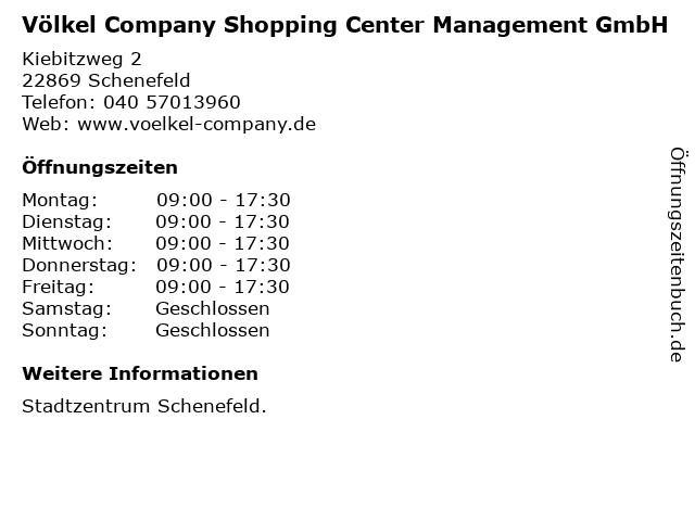 Völkel Company Shopping Center Management GmbH in Schenefeld: Adresse und Öffnungszeiten