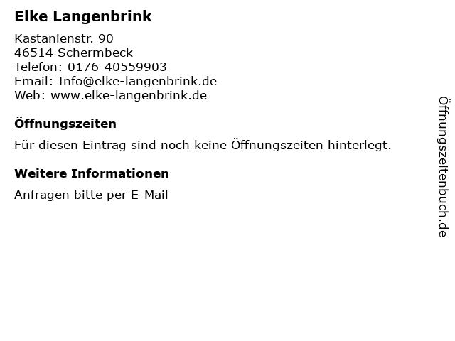 Elke Langenbrink ? Psychologische Beratung in Schermbeck: Adresse und Öffnungszeiten