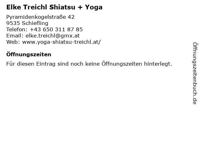 Elke Treichl Shiatsu + Yoga in Schiefling: Adresse und Öffnungszeiten