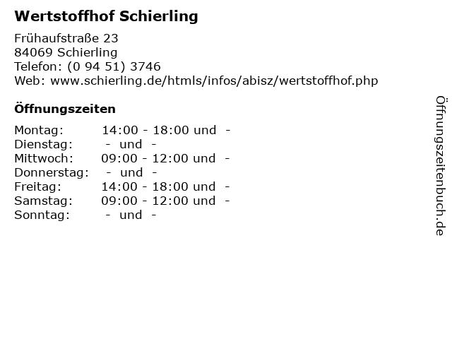 Wertstoffhof Langquaid öffnungszeiten