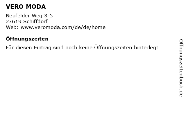 VERO MODA in Schiffdorf: Adresse und Öffnungszeiten