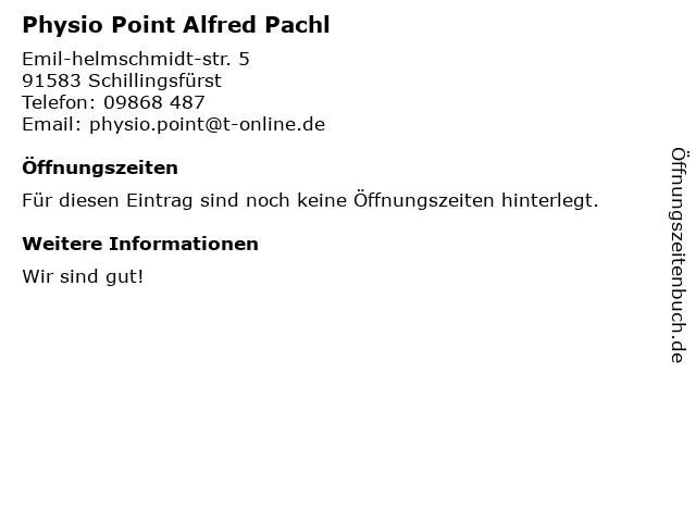 Physio Point Alfred Pachl in Schillingsfürst: Adresse und Öffnungszeiten