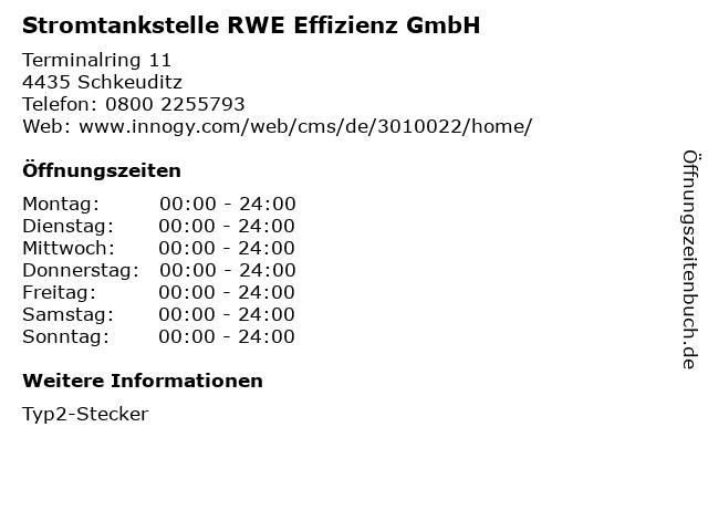 Stromtankstelle RWE Effizienz GmbH in Schkeuditz: Adresse und Öffnungszeiten