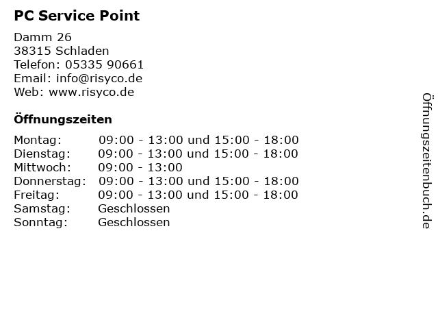 PC Service Point in Schladen: Adresse und Öffnungszeiten