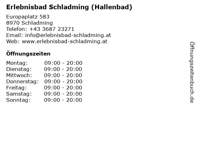 Erlebnisbad Schladming (Hallenbad) in Schladming: Adresse und Öffnungszeiten