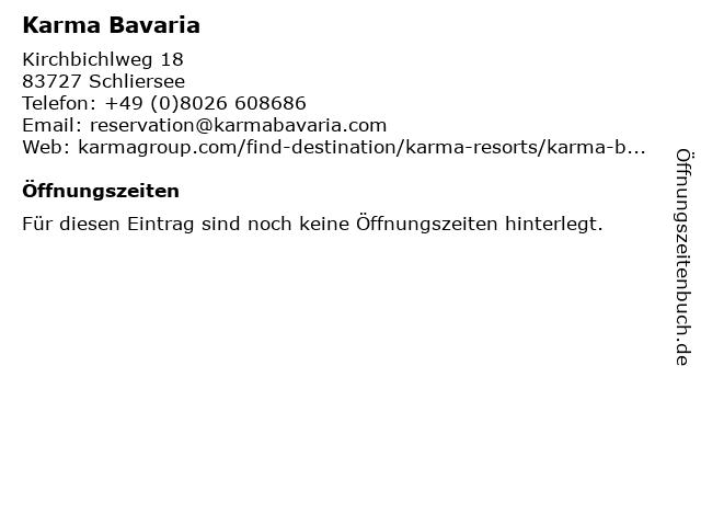Karma Bavaria in Schliersee: Adresse und Öffnungszeiten