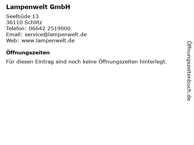 ᐅ Offnungszeiten Lampenwelt Gmbh Seelbude 13 In Schlitz