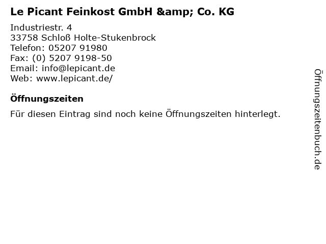 Le Picant Feinkost GmbH & Co. KG in Schloß Holte-Stukenbrock: Adresse und Öffnungszeiten