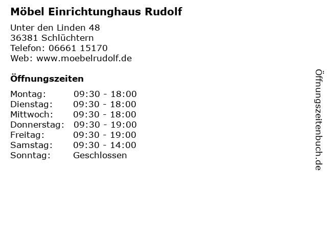 ᐅ öffnungszeiten Möbel Einrichtunghaus Rudolf Unter Den Linden