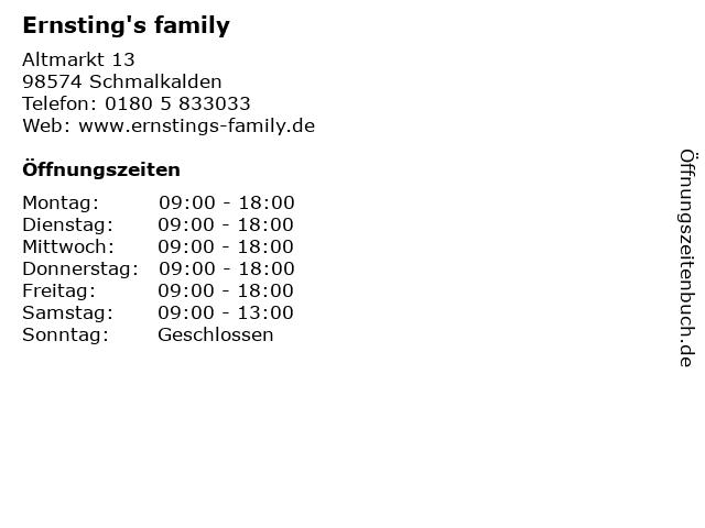 Ernsting's family in Schmalkalden: Adresse und Öffnungszeiten
