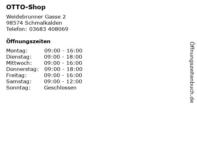 OTTO-Shop in Schmalkalden: Adresse und Öffnungszeiten