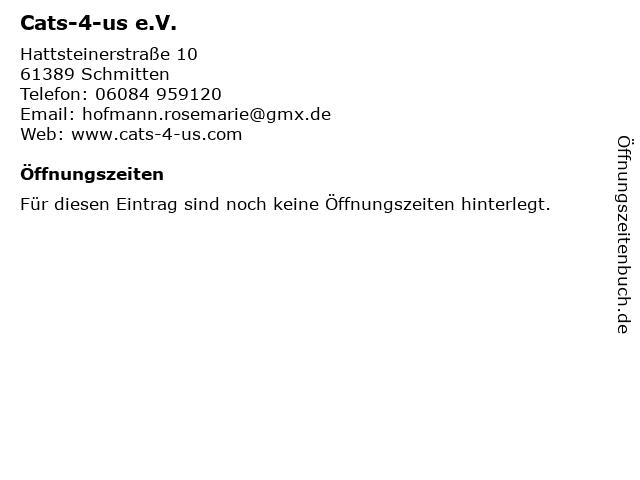 Cats-4-us e.V. in Schmitten: Adresse und Öffnungszeiten