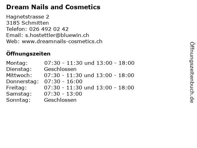 Dream Nails and Cosmetics in Schmitten: Adresse und Öffnungszeiten