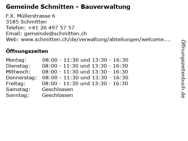 Gemeinde Schmitten - Bauverwaltung in Schmitten: Adresse und Öffnungszeiten