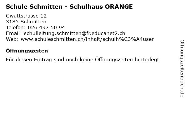 Schule Schmitten - Schulhaus ORANGE in Schmitten: Adresse und Öffnungszeiten