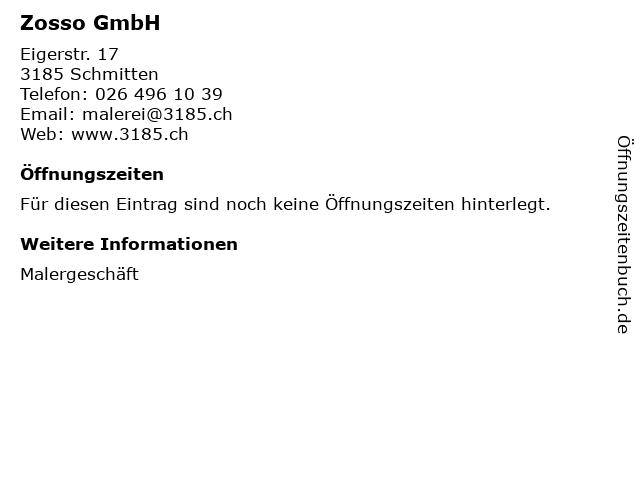 Zosso GmbH in Schmitten: Adresse und Öffnungszeiten