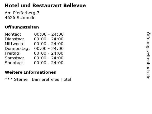 Hotel und Restaurant Bellevue in Schmölln: Adresse und Öffnungszeiten