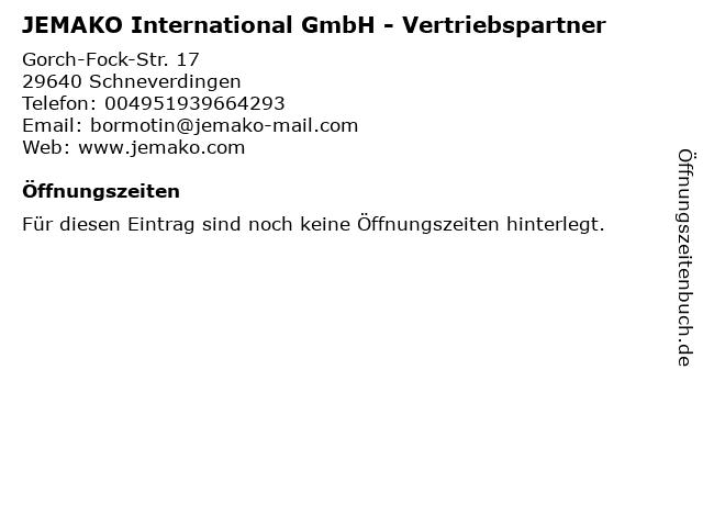 JEMAKO International GmbH - Vertriebspartner in Schneverdingen: Adresse und Öffnungszeiten