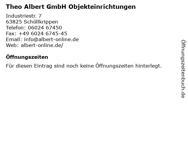 Theo Albert GmbH Objekteinrichtungen in Schöllkrippen: Adresse und Öffnungszeiten
