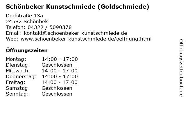Schönbeker Kunstschmiede (Goldschmiede) in Schönbek: Adresse und Öffnungszeiten
