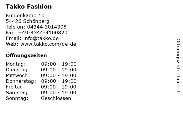 Takko Fashion in Schönberg: Adresse und Öffnungszeiten