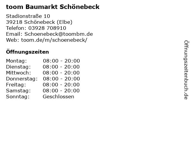 toom Baumarkt in Schönebeck (Elbe): Adresse und Öffnungszeiten