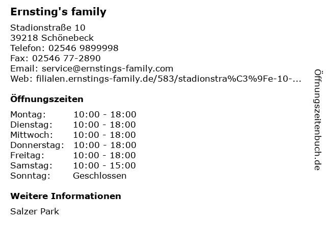Ernsting's family in Schönebeck: Adresse und Öffnungszeiten
