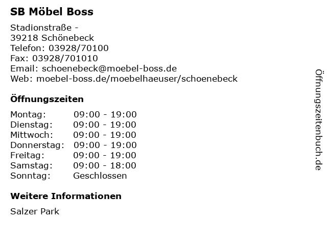 SB Möbel Boss in Schönebeck: Adresse und Öffnungszeiten