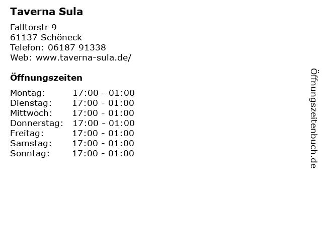 Taverna Sula in Schöneck: Adresse und Öffnungszeiten