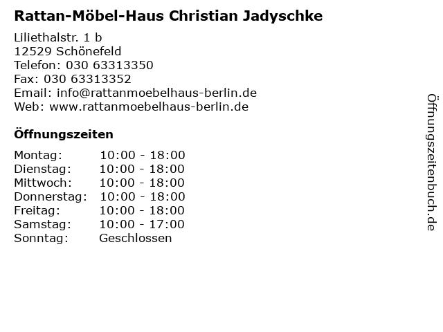 ᐅ öffnungszeiten Rattan Möbel Haus Christian Jadyschke