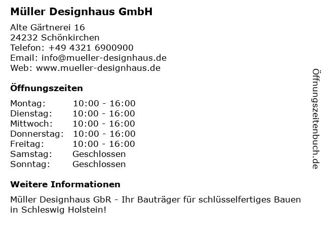 Müller Designhaus GmbH in Schönkirchen: Adresse und Öffnungszeiten