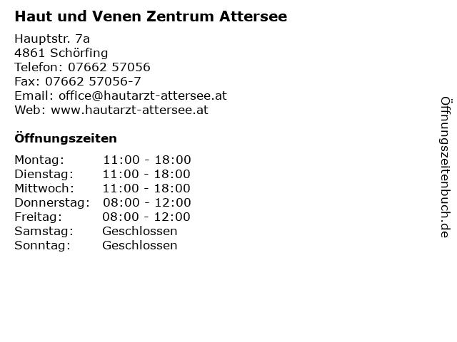 Haut und Venen Zentrum Attersee in Schörfing: Adresse und Öffnungszeiten